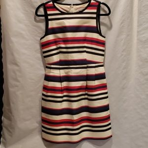 J. Crew red white and blue fitted dress